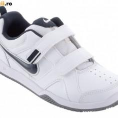 Noi! Adidasi piele originali, marca NIKE Lykin, baieti marimea 29.5 - Adidasi copii Nike, Culoare: Alb, Piele naturala