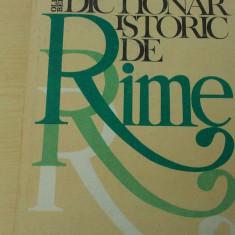 DICTIONAR ISTORIC DE RIME-OLIMPIA BERCA
