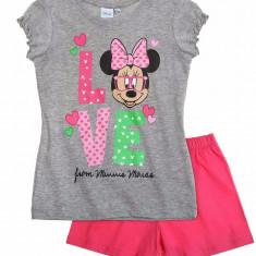 Pijama scurta 2-8 ani - Minnie - art 87389 gri-roz, Marime: Alta