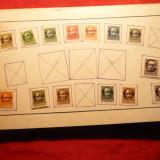 Serie mica Uzuale Bavaria, supratipar Republica -cu sarniera, pe carton