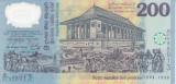 Bancnota Sri Lanka 200 Rupii 1998 - P114b UNC (comemorativa - polimer)