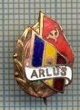 831 INSIGNA ARLUS - ANII '50 Asociația Română pentru strângerea Legăturilor cu Uniunea Sovietică -starea care se vede
