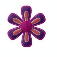 jibbitz CROCS - bijuterii/accesorii pentru saboti de guma -  Big Red Pink  Purple Flower