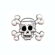 jibbitz CROCS - bijuterii/accesorii   skull and bones crossed
