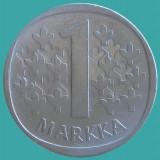 FINLANDA KM#49a 1 Markka 1972