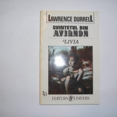 LAWRENCE DURRELL - LIVIA SAU INGROPAT DE VIU,RF6/2,r44