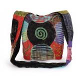 Geanta multicolor de vara din bumbac - SPIRALA - Geanta Dama, Culoare: Din imagine, Marime: Marime universala, Geanta de umar