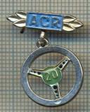 892 INSIGNA - ACR(AUTOMOBIL CLUBUL ROMAN) -20 DE ANI, membru ACR - starea care se vede