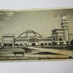 C.P. PLOIESTI HALELE CENTRALE ANII 40 - Carte Postala Muntenia dupa 1918, Necirculata, Printata