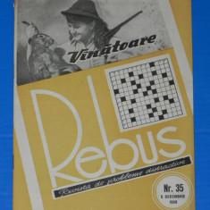 REVISTA REBUS 1958 NR 35 - NECOMPLETATA (00448 - Revista femei