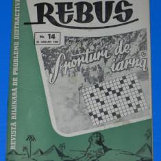 REVISTA REBUS 1958 NR 14 20 ianuarie 1958 - Revista femei