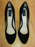 Pantofi ZARA marimea 39,arata ca noi!, Negru, Cu toc