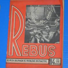 REVISTA REBUS 1960 NR 84 (00485 - Revista femei