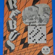 REVISTA REBUS 1959 NR 40 - NECOMPLETATA (00450 - Revista femei