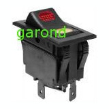 Comutator auto, cu bec, ON-OFF-ON - 12V - 45x25x46mm/69241