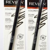 Creion contur ochi retractabil Revlon Colorstay, Negru