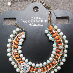 Colier lant statement ZARA Nou _pret magazin 160 ron! - Colier fashion