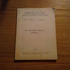 MIC DICTIONAR ROMAN-COREEAN -- Emilia Parpala, Li Yong Nam -- 1978, 142 p. Altele