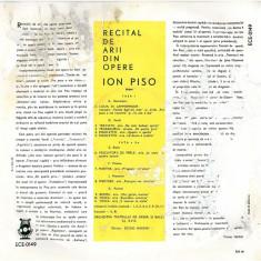 Donizetti_Verdi_Bizet_Flotow_Massenet_Puccini_Ion Piso - Arii Din Opere_Traviata_Trubadurul_Rigoletto_Pescuitorii De Perle_Martha_Werther (Vinyl) - Muzica Opera electrecord, VINIL