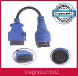 Cablu adaptor Iveco Daily pt tester Delphi ,  CDP+ -  38 pini  la OBD2 - 16 pini
