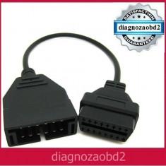 Cablu adaptor Daewoo Matiz - tester auto Delphi, 12 pini la 16 pini OBD2