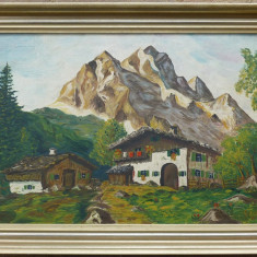 Cabana la poalele muntelui - semnat  E.Kohle '51