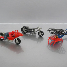 Spiderman motocicleta + elicopter, Corgi Juniors