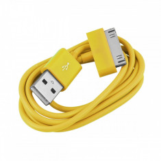 Cablu USB Apple iPod Nano Classic Touch iPhone 2G 3G 3GS 4 4S Yellow