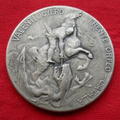 Exceptionala si Veche Oglinda Poseta ornata cu Sfantul Gheorghe Rara de Colectie