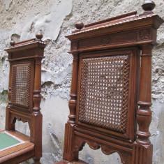 Pereche scaune vechi, antice - 1