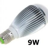 BEC ECONOMIC 9W CU LED E27 DULIE NORMALA  ILUMINARE - ALB RECE  - COD 5008 -, Becuri economice, Rece (4100 - 4999 K)