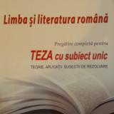 LIMBA SI LITERATURA ROMANA - TEZA CU SUBIECT UNIC - A. Costache, E. Carstocea, M. Columban