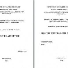 LUCRARE DE LICENTA A.M.F. - SIROPURI EXPECTORANTE SI ANTITUSIVE