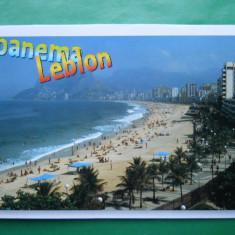HOPCT 8809 -MOKAZIE ! BRAZILIA RIO DE JANEIRO -PLAJA IPANEMA LEBLON -NECIRCULATA, America Centrala si de Sud, Printata