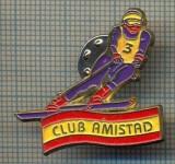 1004 INSIGNA  - SKI - CLUB AMISTAD -MADRID - SPANIA -starea ce se vede.