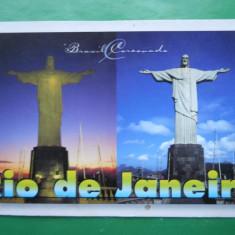 HOPCT 8801 -MOKAZIE ! BRAZILIA RIODE JANEIRO -CRISTO REDENTOR -CORCOVADO -NECIRCULATA, America Centrala si de Sud, Printata