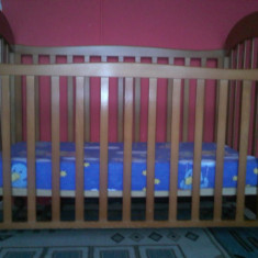 Vand patut copii - Patut lemn pentru bebelusi MyKids, Maro