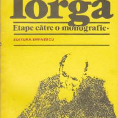 DAN ZAMFIRESCU - N. IORGA ( ETAPE CATRE O MONOGRAFIE ) - Carte Monografie