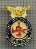 1007 INSIGNA POMPIERI - FIRE PROTECTION ANG(AIR NATIONAL GUARD)-CALIFORNIA -STATELE UNITE ALE AMERICII -starea ce se vede.