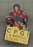 1013 INSIGNA DE SKI -CPG LA MONGIE GOURETTE -FRANTA -starea ce se vede.
