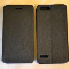 Husa HUAWEI ASCEND P7 Mini Flip Case Slim Black - Husa Telefon Huawei, Negru, Piele Ecologica, Cu clapeta, Toc