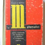 """CULEGERE DE PROBLEME DE MATEMATICI PENTRU EXAMENELE DE BACALAUREAT SI ADMITERE IN INVATAMANTUL SUPERIOR"", Cezar Cosnita / F. Turtoiu, 1968 - Culegere Matematica"
