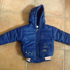 Geaca, jacheta iarna bebe, 12 luni, Culoare: Bleumarin, Bleumarin
