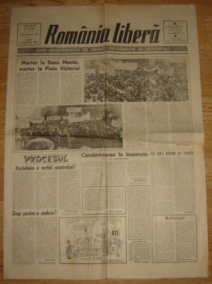 Ziar , Romania Libera   - 30 Ianuarie  1990 foto