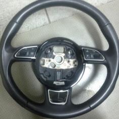 Volan piele comenzi multifunctionale Audi A6 A7 A8 dupa 2012 poze reale impecabil