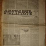 Ziar , Adevarul lin  Libertate  - 6 Martie 1990
