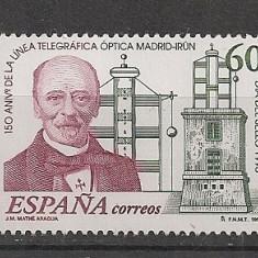 Spania.1996 Ziua marcii postale-150 ani telegraful optic EB.276 - Timbre straine