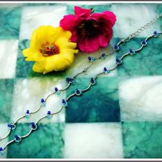 AuX: Deosebit COLIER / LANTISOR de dama, confectionat din metal si margelute, inchizatoarea e ajustabila! - Colier fashion