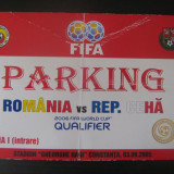 Romania - Republica Ceha (3 septembrie 2005) / permis parking