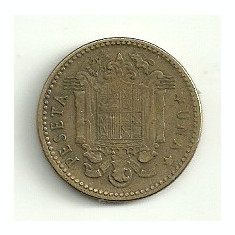 SPANIA 1 PESETA 1953 [1] livrare in cartonas, Europa, Bronz-Aluminiu